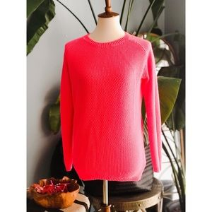 H&M Divided neon pink acrylic sweater